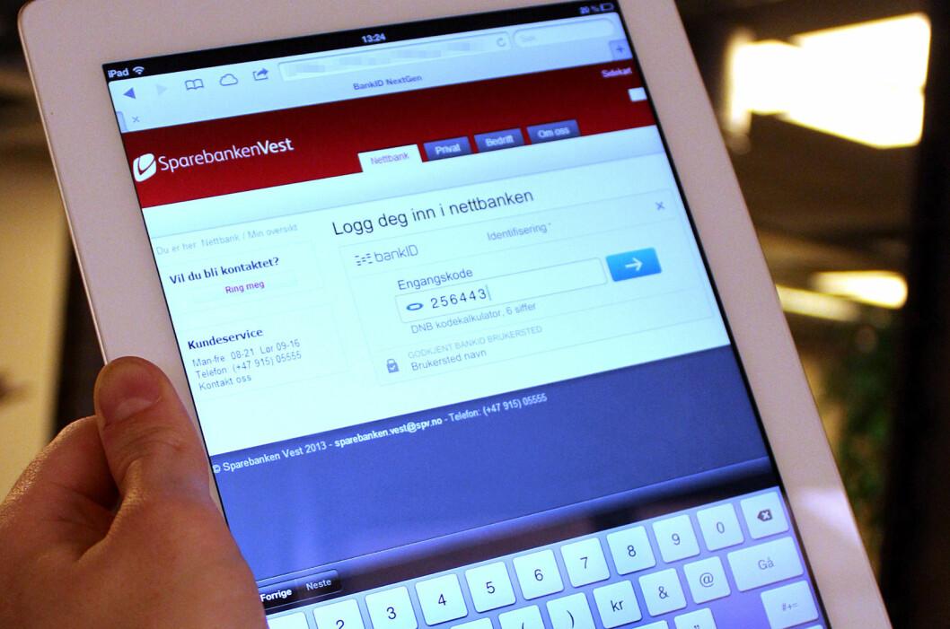 <strong><b>NETTBRETT:</strong></b> Med BankID 2.0 skal man kunne logge inn via nettbrett eller mobil, uavhengig av operativsystem. Foto: OLE PETTER BAUGERØD STOKKE