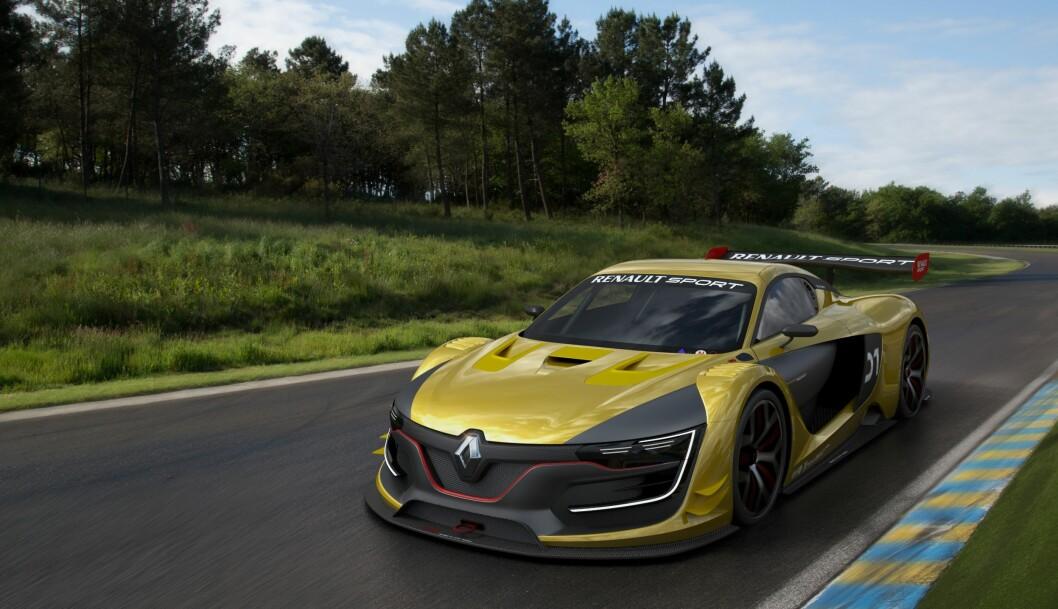 <strong><b>BLIKKFANG:</strong></b> Renault har ikke spart på visuelle effekter når de har designet sin nye R.S. 01. Foto: RENAULT