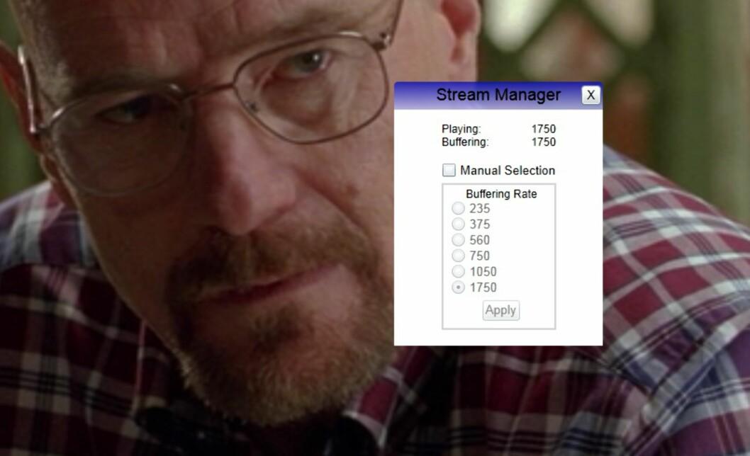 <strong><B>HEMMELIG:</strong></B> Den hemmelige menyen kan kun hentes frem med en spesiell tastatur-snarvei, og gjør det mulig å velge hvor mye av filmen som skal lagres på maskinen før den spilles av. Foto: TROND BIE