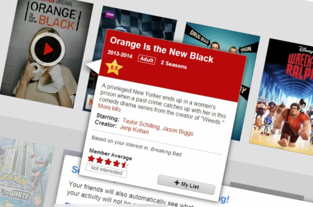 <B>LIVET ER FOR KORT...</B>: Du har ikke lenger noen unnskylding for å kaste bort tiden på dårlige serier og filmer. Bruk heller denne flotte utvidelsen til Chrome og Firefox, og få karakterer fra IMDB og Rotten Tomatoes inn i Netflix.com. Foto: TROND BIE