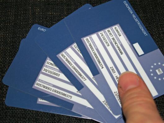 <strong><b>TA MED:</strong> </b>Hvert familiemedlem må ha hvert sitt helsetrygdkort. Foto: BERIT B. NJARGA