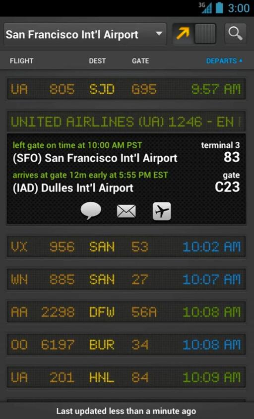 NÅR GÅR FLYET? Flightboard gir deg informasjonstavla fra flyplassen direkte på telefonen.