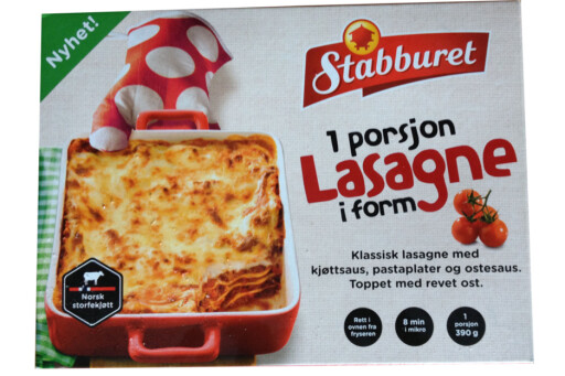 FERDIGLASAGNE: Ja, det er enkelt, men det tar faktisk lenger tid enn å lage lasagne selv. Foto: BERIT B. NJARGA