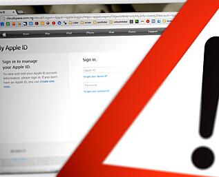 Falsk e-post fra Apple App Store