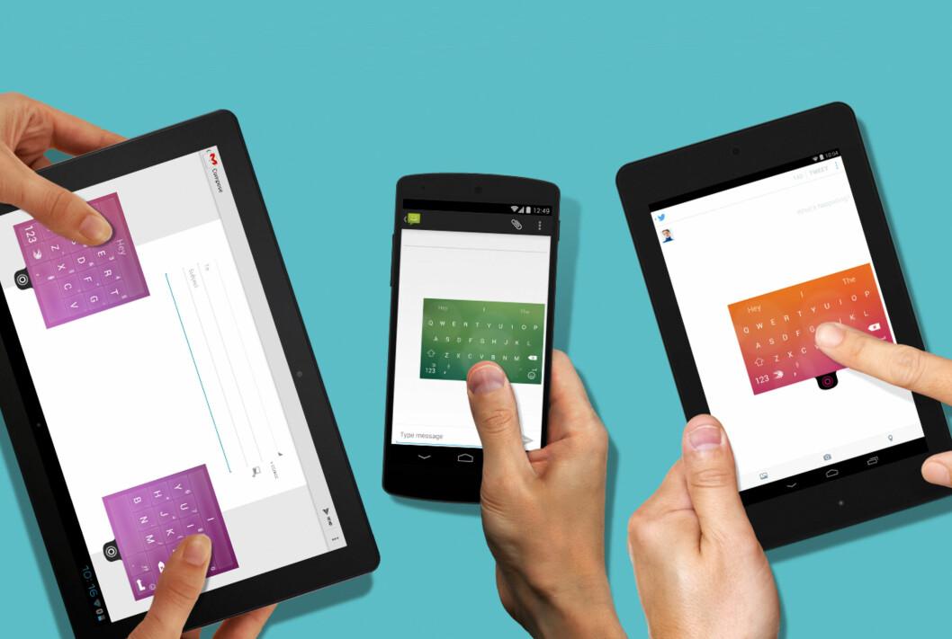 <strong><strong>GRATIS:</strong></strong> Mange synes Swiftkey er det beste Android-tastaturet, og nå har appen blitt helt gratis. Foto: SWIFTKEY