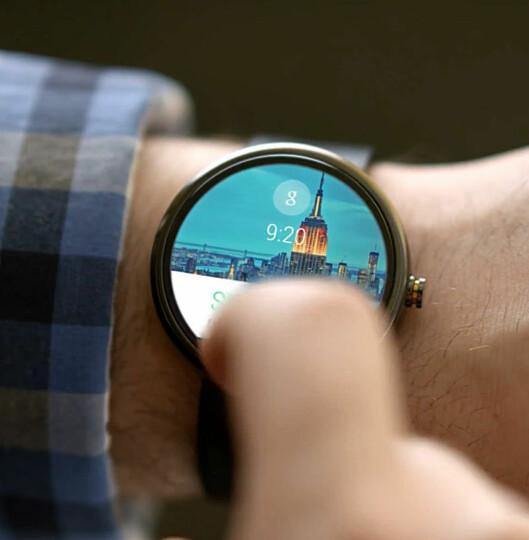 <strong><b>GOOGLE-SMARTKLOKKA:</strong></b> Motorola kommer til å være et av de første selskapene til å lansere en smartklokke med Googles nye Android Wear-operativsystem. Har Apple tenkt til å la dem vinne markedet? Foto: GOOGLE