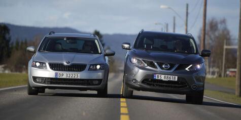image: 4x4-duell: Nissan Qashqai vs. Skoda Octavia