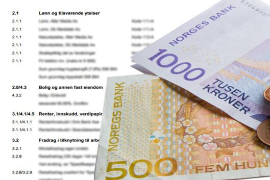<strong><b>SKATTEOPPGJØRET:</strong></b> Har du penger til gode, kommer skatteoppgjøret tidligst 25. juni for lønnstakere og pensjonister, og 6. august for næringsdrivende. Foto: ILLUSTRASJON