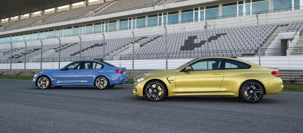 <strong><b>TODELT:</strong></B> M3 får du som firedørs sedan. M4 tar over som kupé. Foto: BMW