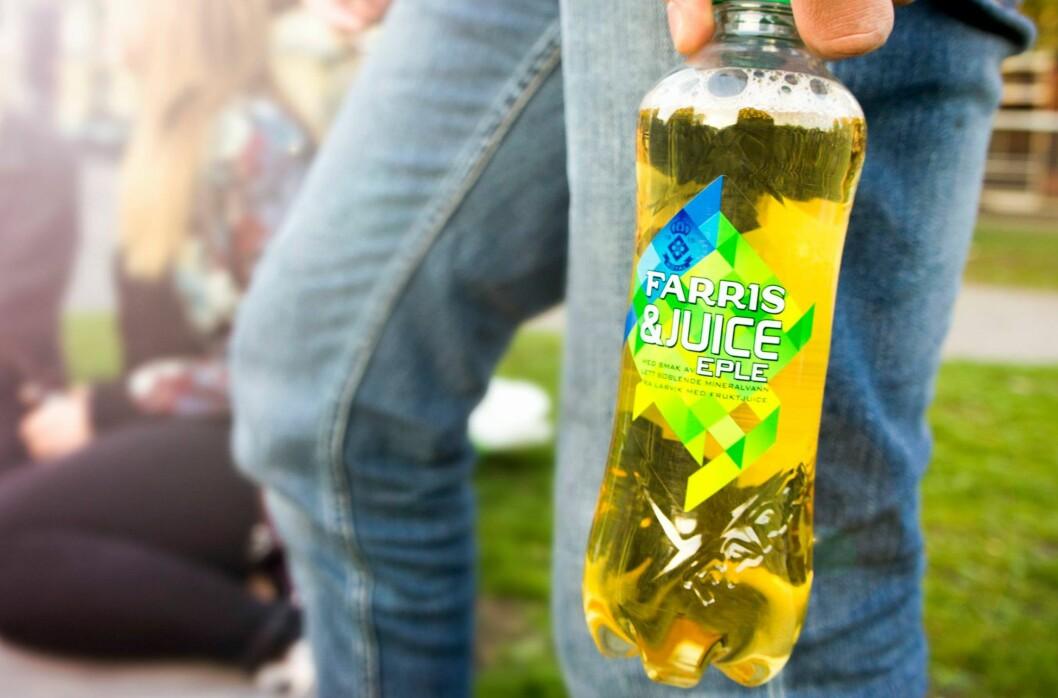 <strong><b>TRENDY:</strong> </b>Drikker som består av kullsyreholdig vann og juice kan virke som en trend, nå som Farris & Juice hiver seg inn i konkurransen med Tines Noisy.  Foto: RINGNES