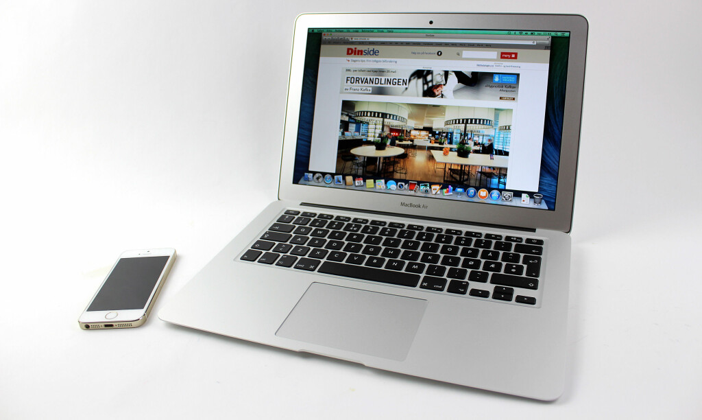 ALIMINIUM: MacBook Air er frest ut av et stykke aluminium. Apple kaller det for unibody-design.  Foto: KIRSTI ØSTVANG