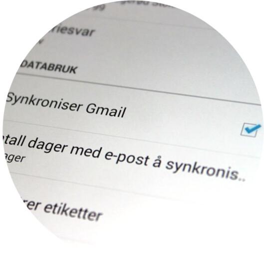 <strong><b>SLÅ AV:</strong> </b>Automatisk nedlasting av e-post du sjeldent leser.  Foto: OLE PETTER BAUGERØD STOKKE