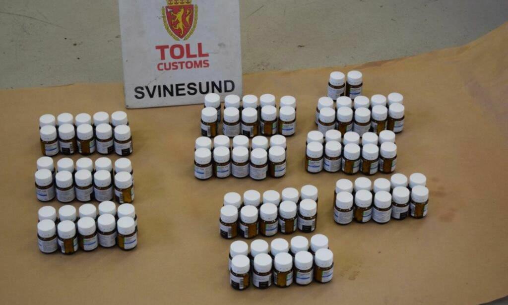 BESLAG: Tollvesenet har tatt flere rumenere som har forsøkt å smugle store kvanta ulovlige piller over grensa. Foto: Politiet