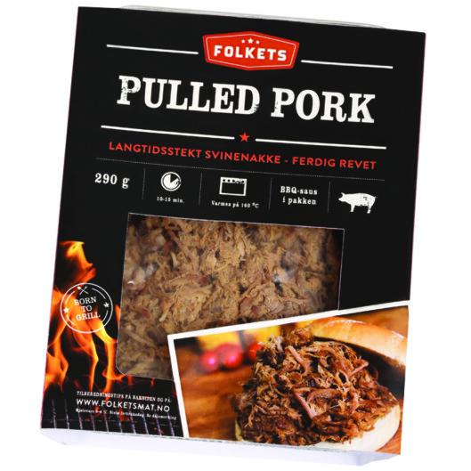 <strong><b>FERDIG:</strong></b> Du får kjøpt ferdig pulled pork som bare skal varmes opp, men vi synes litt av moroen er å lage det helt selv. Dessuten er det jo så enkelt! Foto: PRODUSENTEN