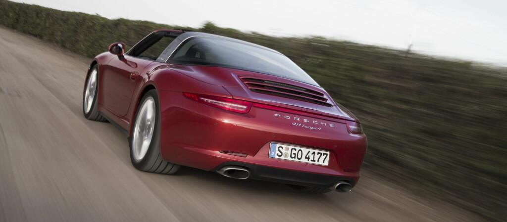 <b>SAMME PROFIL:</b> Nye 911 Targa har samme profil som coupé-versjonen.  Foto: Marcus Werner