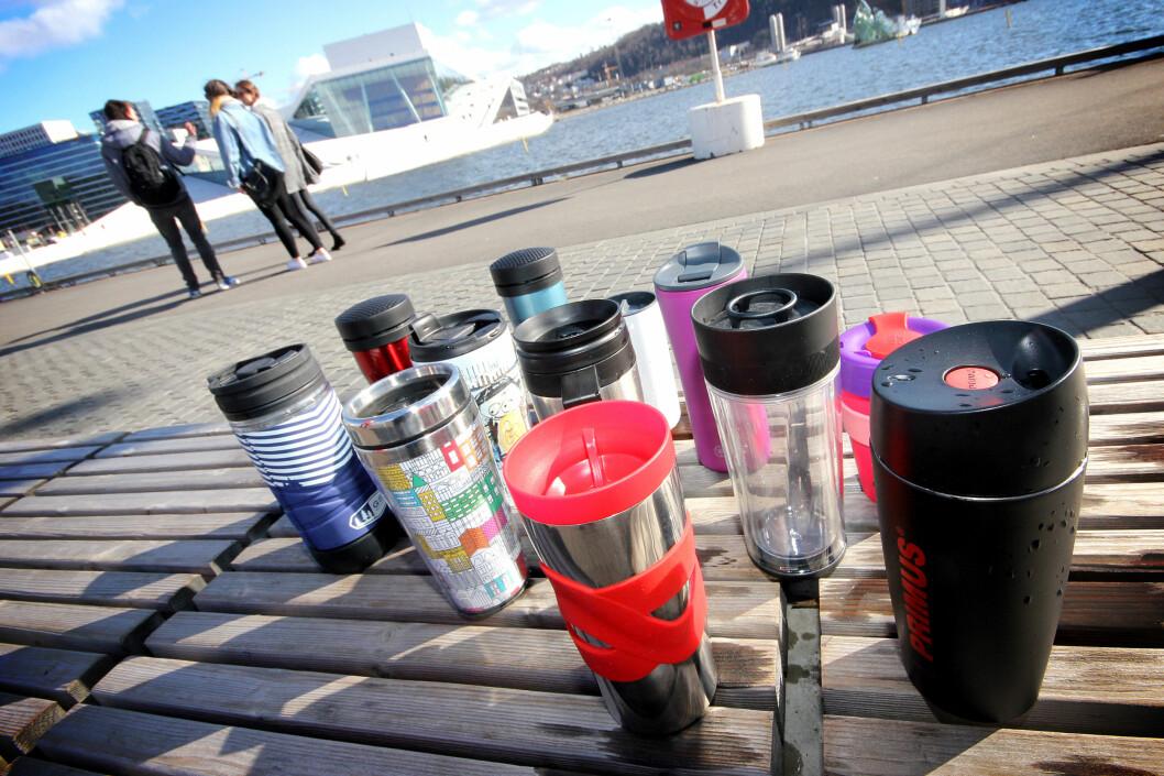 Testobjektene! Foto: OLE PETTER BAUGERØD STOKKE