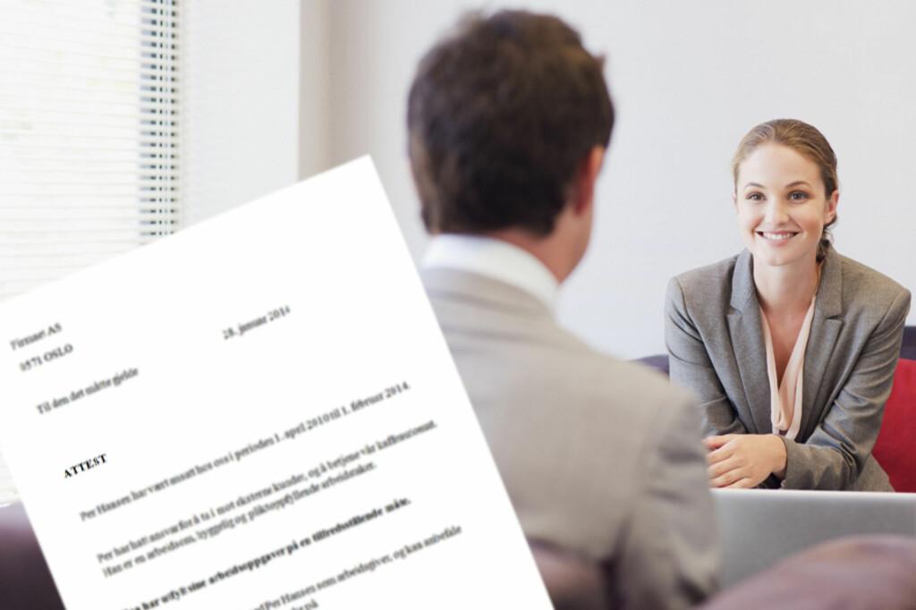 <b>ER ATTESTEN DØD?</b> Ikke ifølge rekrutteringsekspertene, som mener attester og referanser utfyller hverandre når du søker ny jobb. Foto: ALL OVER PRESS