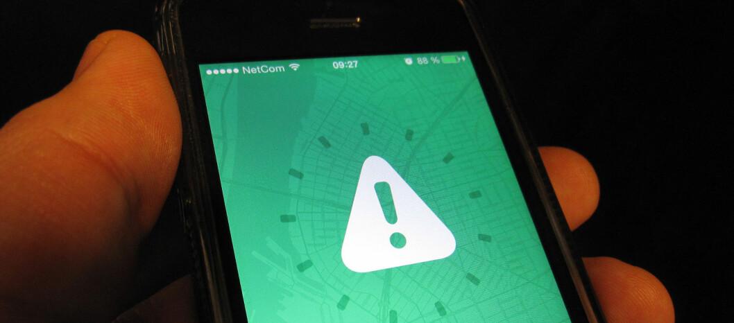 Her er appen for deg som bare vil være i fred. Hver gang en nettvenn er i nærheten, blir du advart. Foto: Bjørn Eirik Loftås