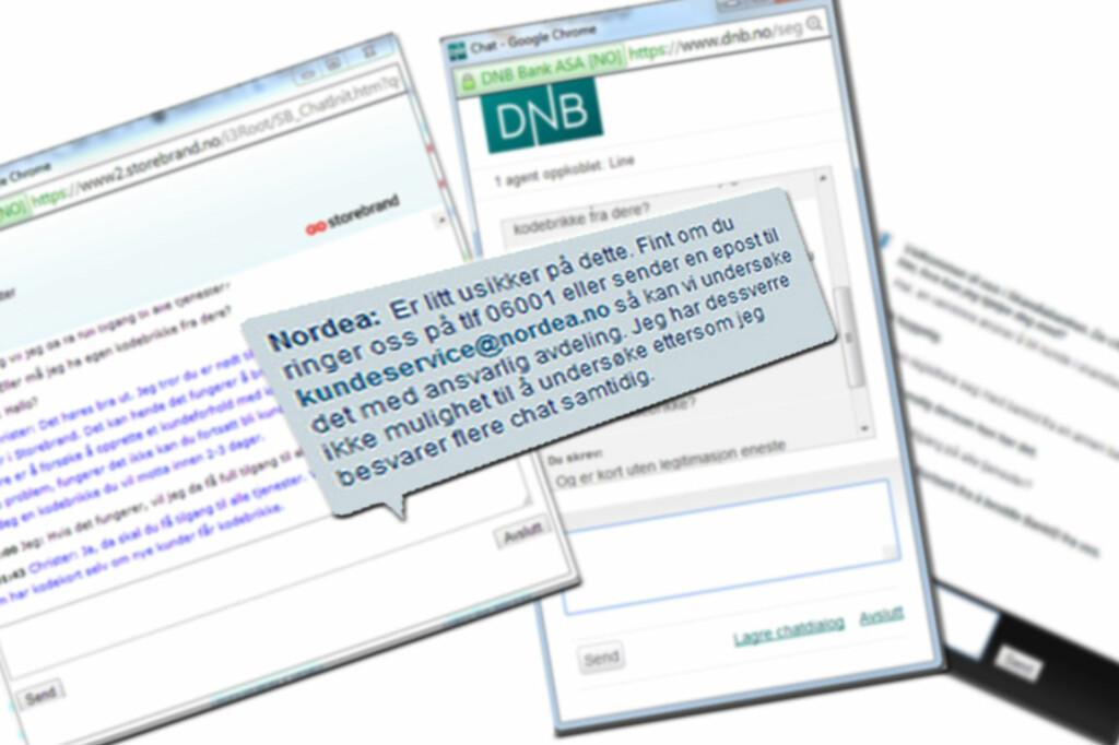 <b>CHAT:</b> Å kontakte kundeservice på chat gikk greit så lenge spørsmålene ikke var for kompliserte. Foto: BERIT B. NJARGA