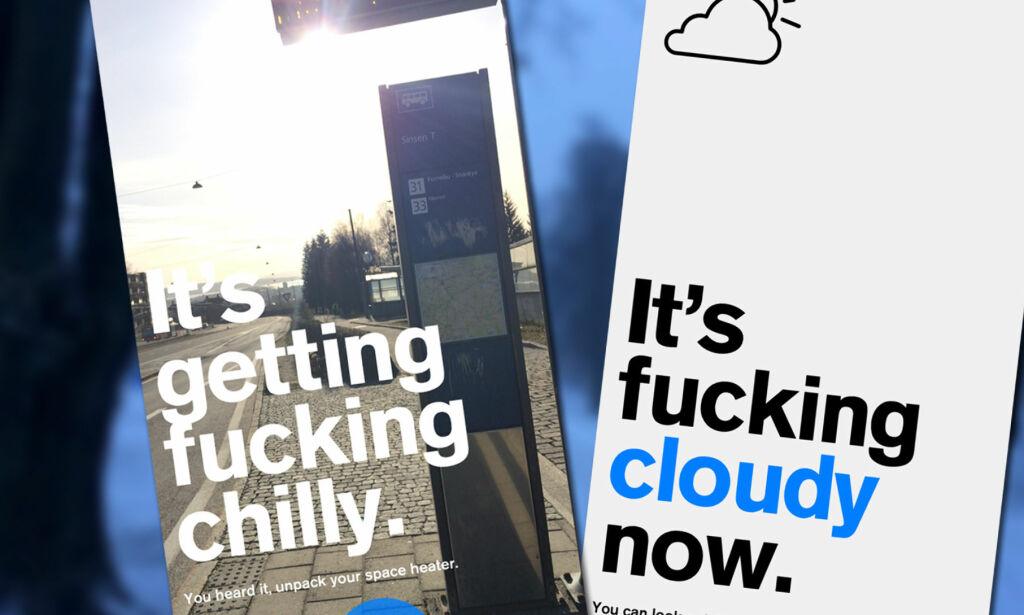 image: En helt ærlig vær-app