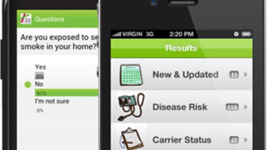 <strong>APP:</strong> Det er bare å rydde plass på smarttelefonen: Helseapper er et marked i voldsom vekst.  Foto: 23andMe