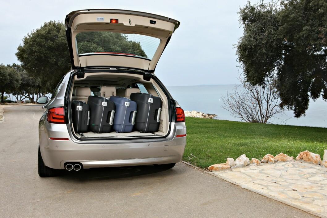 <strong><b>TURKAMERAT:</strong></b> Neste 5-serie vil få bedre plass i bagasjrerommet enn dagens (bildet).  Foto: BMW
