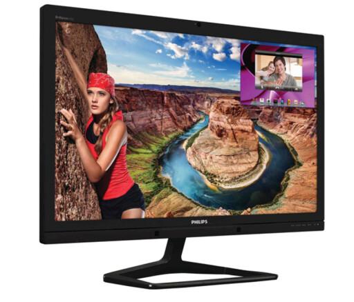 Denne Philips-skjermen har 77% flere piksler enn en full HD-skjerm, og fås nå for under 3000 kroner. Foto: Philips
