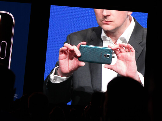 <strong>16 MEGAPIKSLER:</strong> Samsung har gjort en rekke forbedringer på kameraet til toppmodellen. Den har litt flere megapiksler og enda raskere autofokus. Foto: KIRSTI ØSTVANG