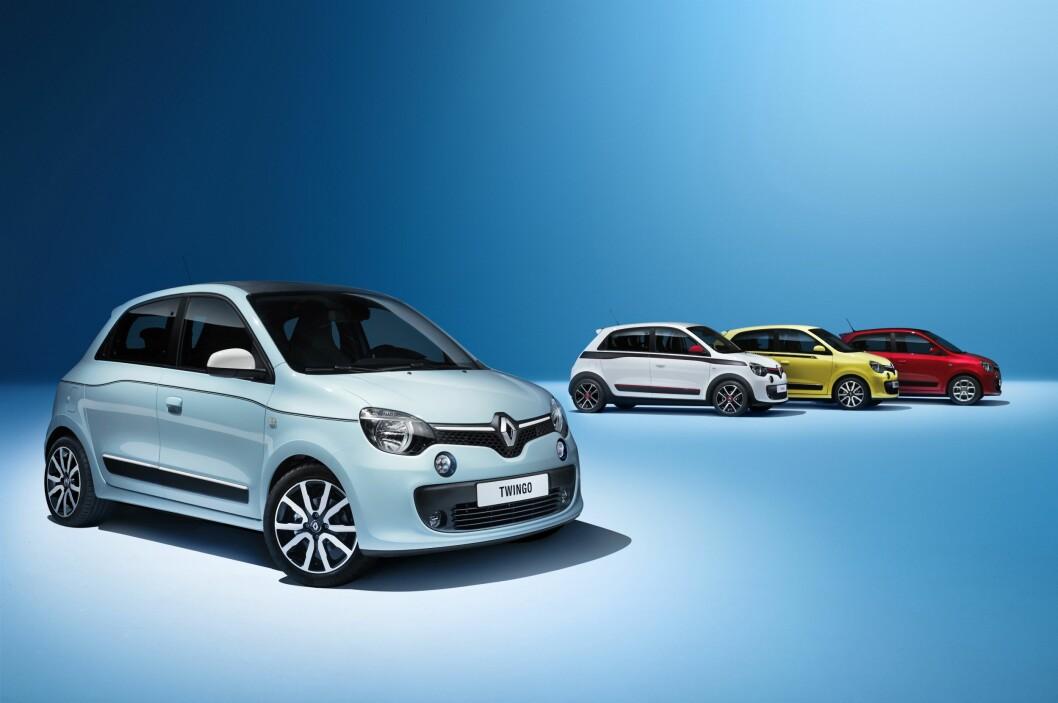 <strong><b>HØY KULHETSFAKTOR:</strong></b> Synes du den ligner Fiat 500, kan vi ikke si oss uenig i det. Men det er en vesentlig forskjell. I nye Renault Twingo finnes nemlig motoren bak - akkurat som i fordums folkevognbobler. Bilen deler for øvrig plattform med neste Smart. Foto: RENAULT
