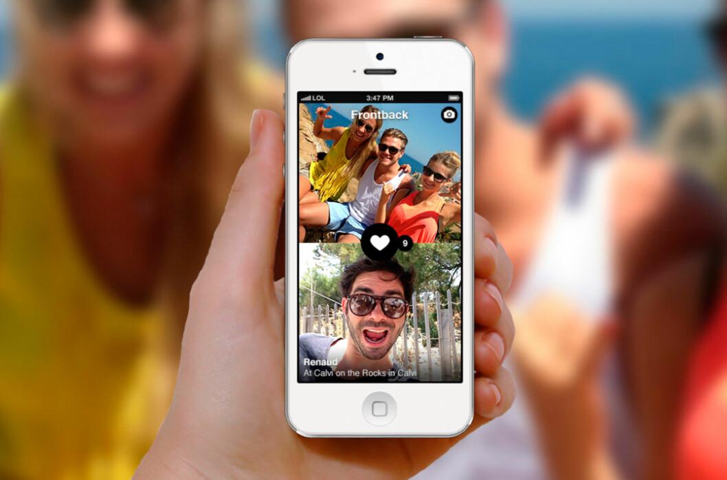 Elsker du å ta selvportretter med mobilen, kommer du til å digge Frontback. Foto: FRONTBACK