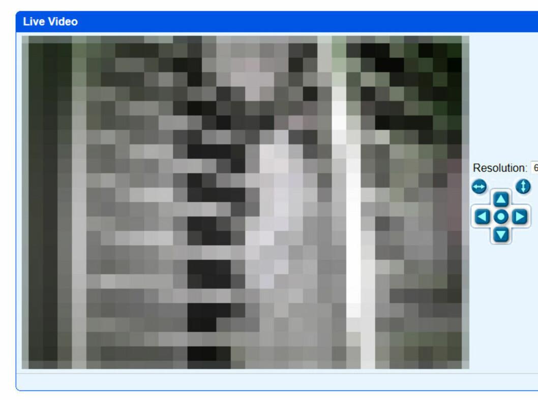 <strong><b>EN MORS MARERITT:</strong></b> Dette er et webkamera som overvåker en barneseng, hvor alle og enhver kan se direkteoverføring av noens barn.  Foto: OLE PETTER BAUGERØD STOKKE