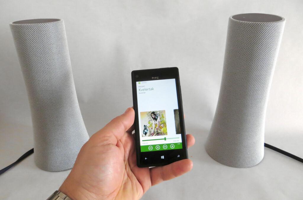 Logitech Z600 er ypperlig når du vil dele mobilmusikken din med kompisene, eller som PC-høyttalere. Foto: Bjørn Eirik Loftås