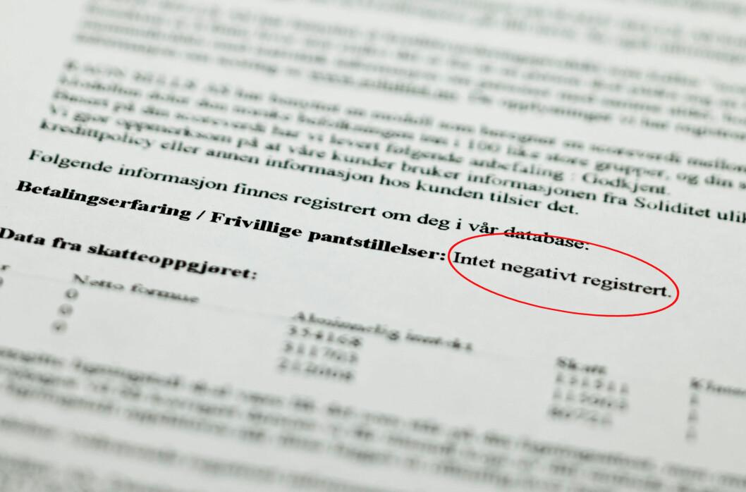 <strong><b>BETALINGSANMERKNINGER:</strong></b> 209.000 nordmenn er registrert  den statlige utleggsdatabasen, og vil dermed stå oppført med betalingsanmerkninger ved en kredittvurdering. Foto: Per Ervland