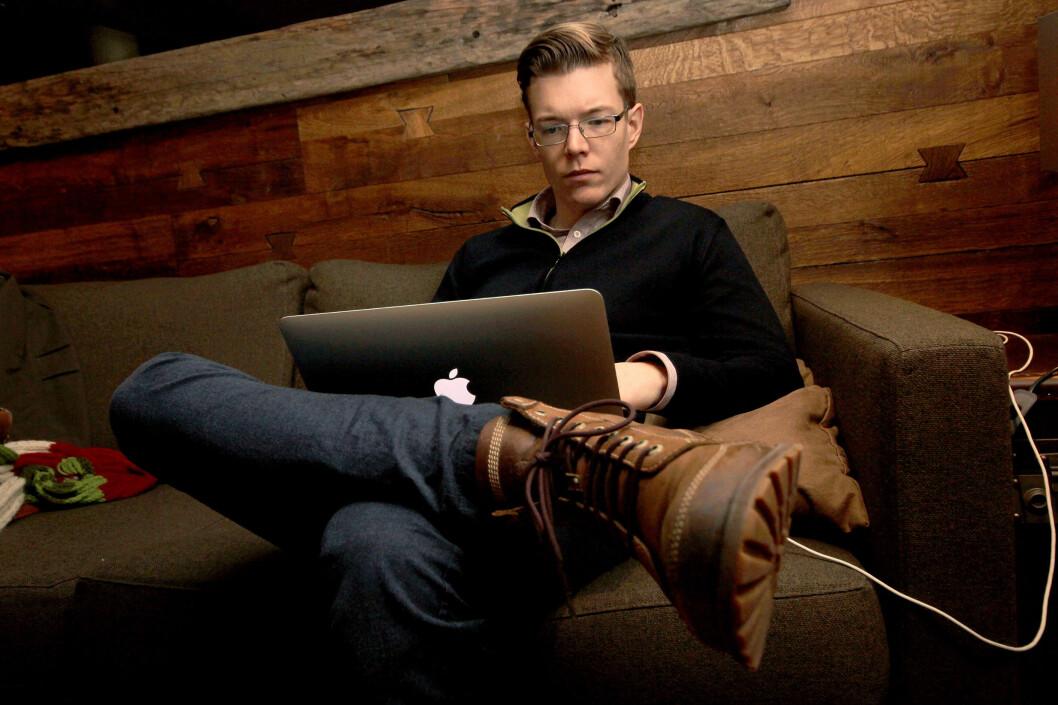 <strong><b>USIKKERT:</strong> </b>Einar Otto Stangvik har laget søkemotoren Usikkert.no for å vise nordmenn hvor mye som ligger åpent på nettet.  Foto: Ole Petter Baugerød Stokke