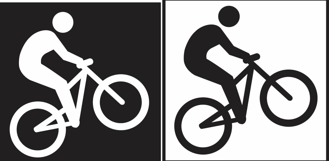 <strong>Forskjellen:</strong> Terrengsykling for eksperten (til venstre) og ugradert løype (til høyre). Foto: DNT/MERKEHÅNDBOKA