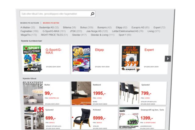 9df15a00 <b>TILBUD:</b> Postens tjeneste søker opp tilbud i aktuelle