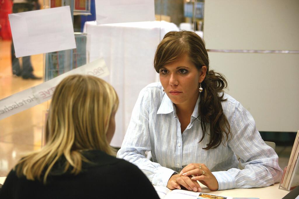 <b>HÆ?</b> Mange lurer nok på om de hørte riktig i jobbintervjuet.  Foto: COLOURBOX