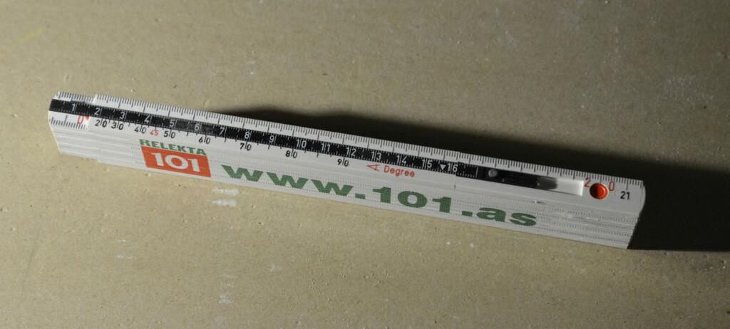 Linjalen som har tre funksjoner i en. Foto: Brynjulf Blix