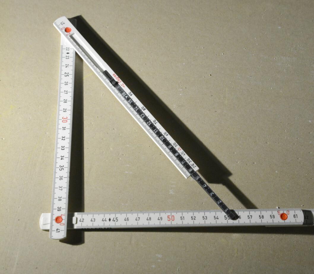 Vinkelen justert til 90 grader Foto: Brynjulf Blix