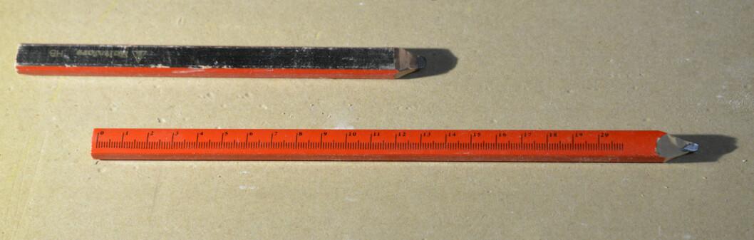 Smart blyant som også er linjal. Foto: Brynjulf Blix