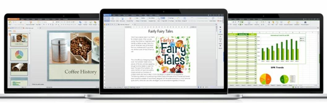 Kontorsuiten inneholder tekstbehandler, presentasjonsverktøy og regneark, og er nærmest 100% kompatibel med Microsoft Office-filer.
