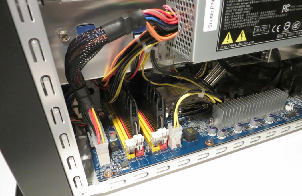Enkel tilgang til RAM-modulene.
