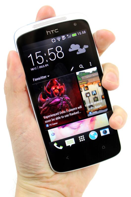 <strong>DITT VALG:</strong> Om du vil bruke Blinkfeed på din HTC Desire 500, er selvfølgelig helt opp til deg. Selv er vi ikke overbevist.  Foto: Ole Petter Baugerød Stokke