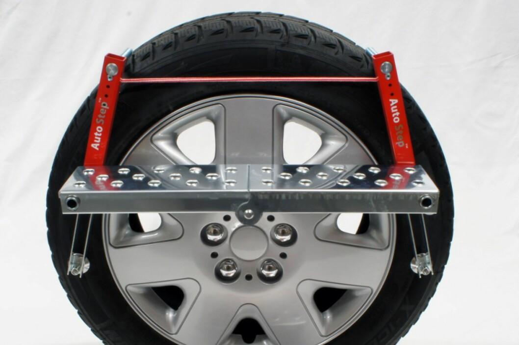 AutoStep har laget en sammenleggbar hjultrapp som er lett å ta med seg.  Foto: Produsenten