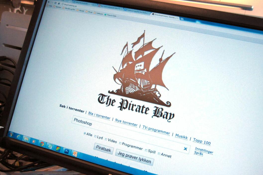 The Pirate Bay og andre kjente fildelingsnettsteder kommer til å bli infiltrert av norske advokater. Foto: Bjørn Eirik Loftås