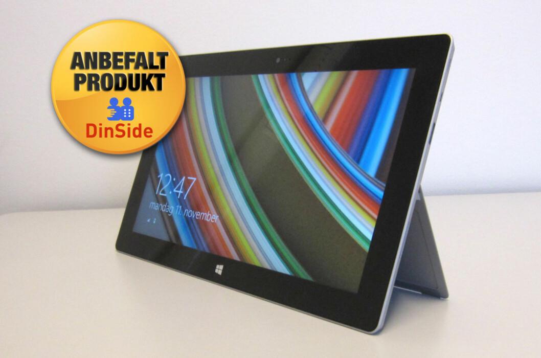 Microsoft Surface 2 er langt bedre enn førsteutgaven, og får en velfortjent anbefaling fra DinSide-redaksjonen.