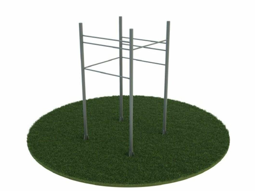<strong><b>Slik ser de ut:</strong></b> Eksempler på stativer som er satt ut i parkene. Foto: Tufteparken.no