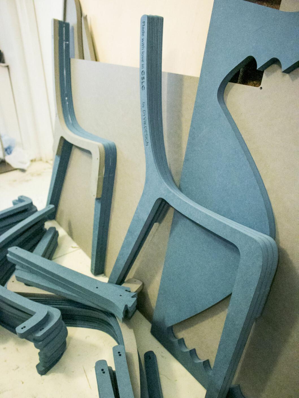 Layer chair - ferdig utskåret, men ikke helt ferdig montert. Foto: Per Ervland