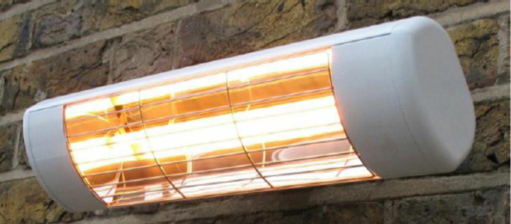 En terrassevarmer er grei å ha når kveldene er kalde. Men vet du forskjellen på mellombølge- og kortbølgevarmer? Foto: Produsenten