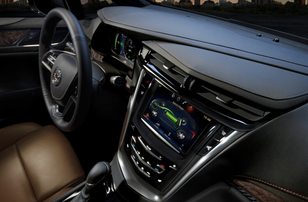 The 2014 Cadillac ELR Cadillac CUE features a large, eight-inch, full-color capacitive-touch screen in the center of the instrument panel. It supports the electrified driving experience with displays on driving efficiency, energy usage, charging options and more, in addition to a broad range of infotainment options. The ELR is the industry's only electric vehicle offered by a full-line luxury automaker. Production starts in late 2013.